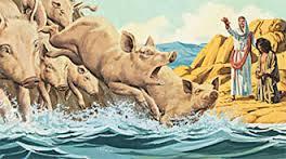 cerdos endemoniados